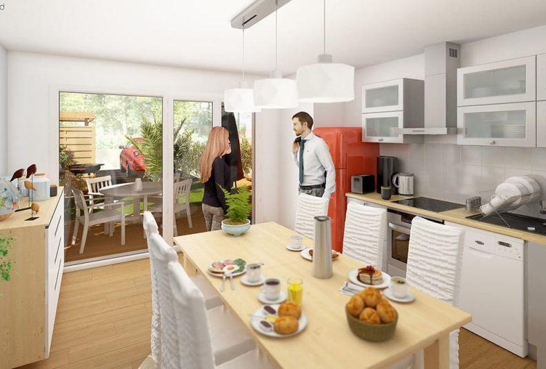 Woodlife : programme de 12 maisons et appartements, Les Sorinières.