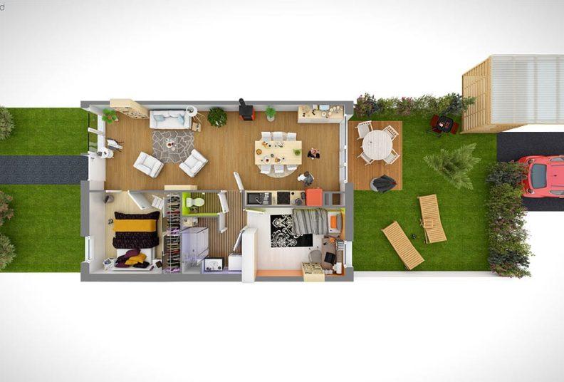 Plan appartements et maisons programme Woodlife.