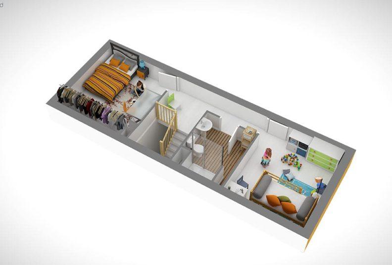 Programme immobilier Woodlife : plan d'un T4.