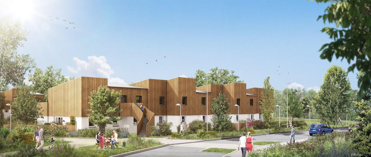 Illustration Woodlife, futur programme immobilier à Nantes.